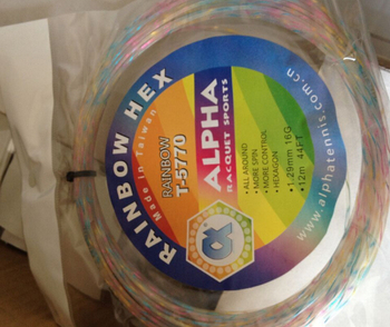 Free shipping players (20pcs/lot) Rainbow excellent soft feeling tennis string polyester/tennis racket strings