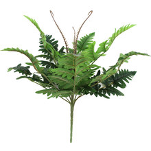 12 Head Artificial Green Persian Leaves Fern Grass Branch Plants Fake Leaf Plastic Simulation Wall Bonsai Home Garden Decoration