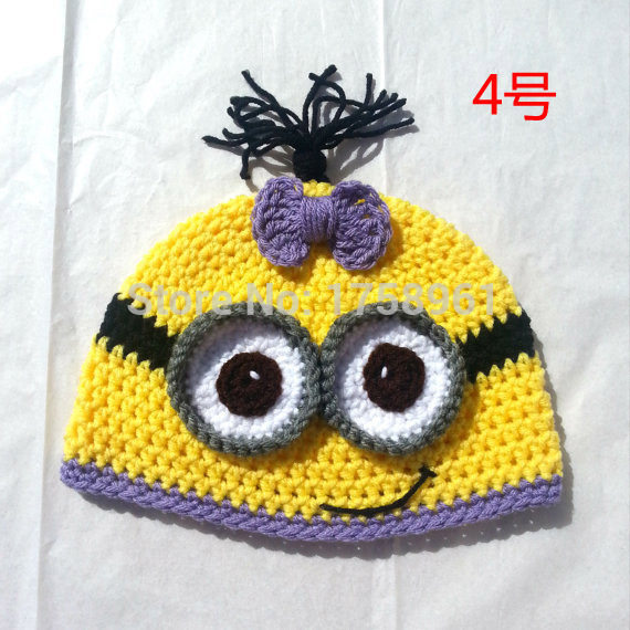Tienda Online Minion crochet sombrero, niño traje, girls clothing ...