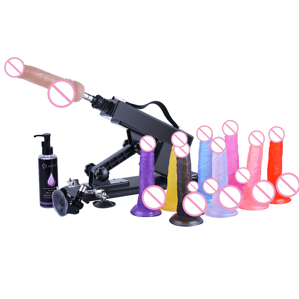 Sex Machine Updated Version Automatic Sex Gun Vibrator With Suction Cup Lubricant -2273