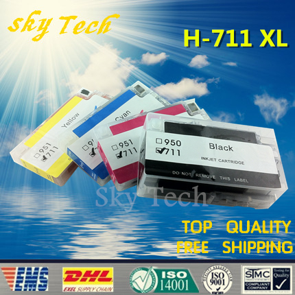 4PK Full Ink Refillable Cartridge suit for HP711XL HP-711XL suit for HP Designjet T120 T520 series Printer , With ARC Chips custom photo 3d ceiling murals wallpaper sky white clouds dove leaves decor 3d wall murals wallpaper for living room painting