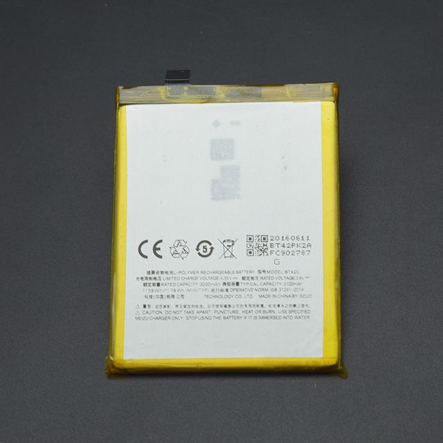 Para meizu m2 note bt42c batería 3050 mah nuevo reemplazo de la batería de acumuladores para meizu m2 note teléfono celular accesorio