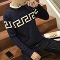Новая осень 2016 подростков свитер мужской Развивать нравственность круглый воротник пуловеры