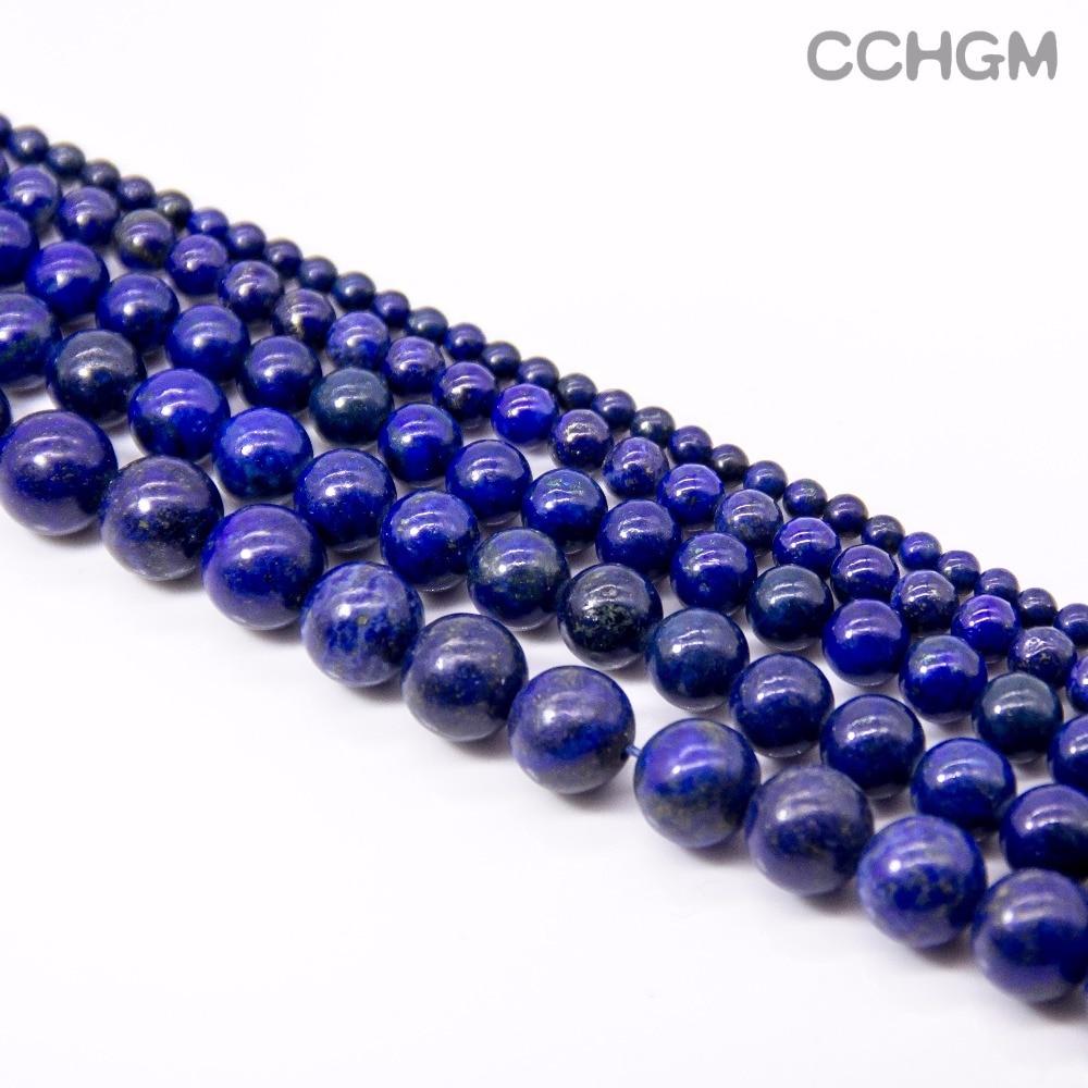 CCHGM kuuma myynti tukku kiillotettu luonnollinen Lapis Lazuli kivihelmiä koruja tehdä DIY rannekoru kaulakoru 4/6/8/10/12 / 14mm