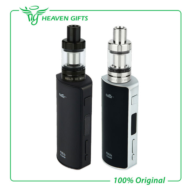100% original eleaf istick 60 w kit mejor cigarrillo electrónico kit con 2 ml Melo Melo 3 Mini Atomzier III mini Tanque VS 60 w istick Box Mod
