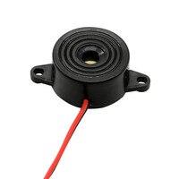 1 шт. 3-24 В черный нейлоновый электронный звуковой сигнал 23x12 мм 95 дБ непрерывный звуковой сигнал с оловянной медной проволокой