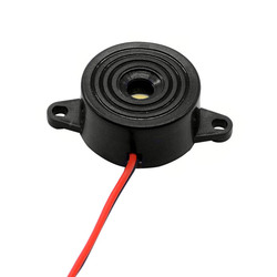 1PC 3-24V Black Nylon Piezo Electronic Buzzer Alarm 23x12MM 95DB Continuous Sound Beeper with Tin Plated Copper Wire