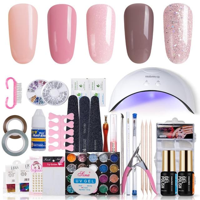 Modelones 11pcslot Sunmini Uv Lamp Beigner Practice Nail Art Tools