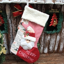 Large plus size cute design wholesale Christmas bag for candy Xmas tree stocking home party ornament supplies adornos navidad