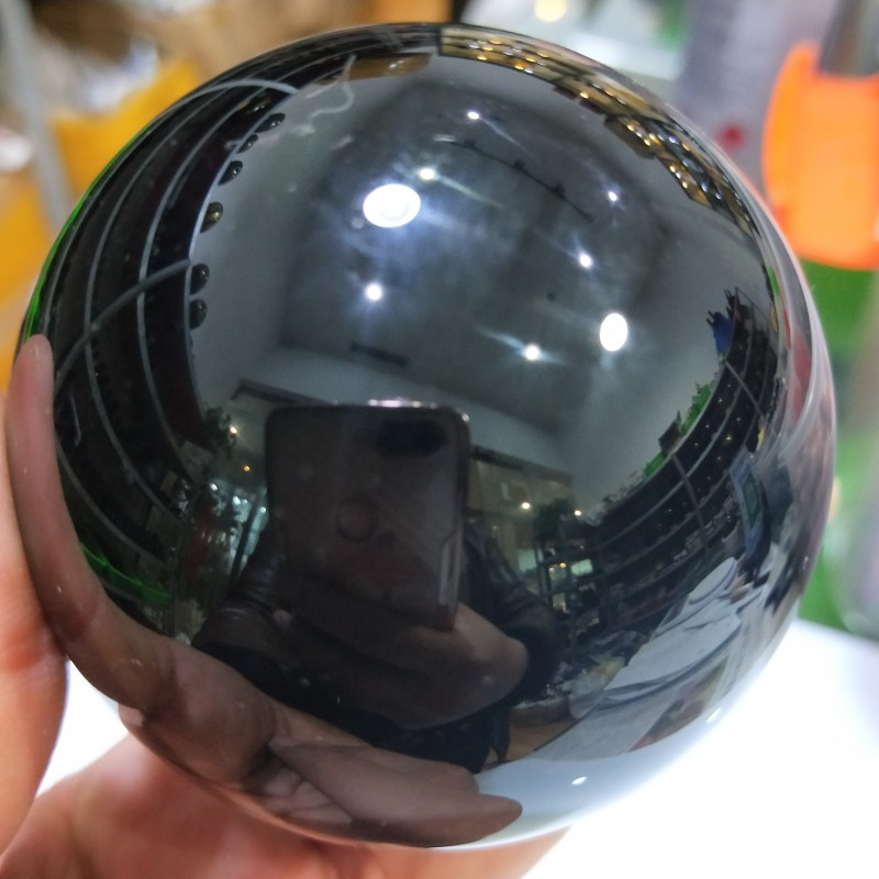 Natural Black Obsidian Sphere Large Crystal Ball Healing w//Stand 100mm USA SALES