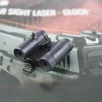 Tactical Steel tylny celownik laserowy czerwona kropka celownik laserowy dla wszystkich pistoletów serii Glock Mini celownik laserowy w Lasery od Sport i rozrywka na