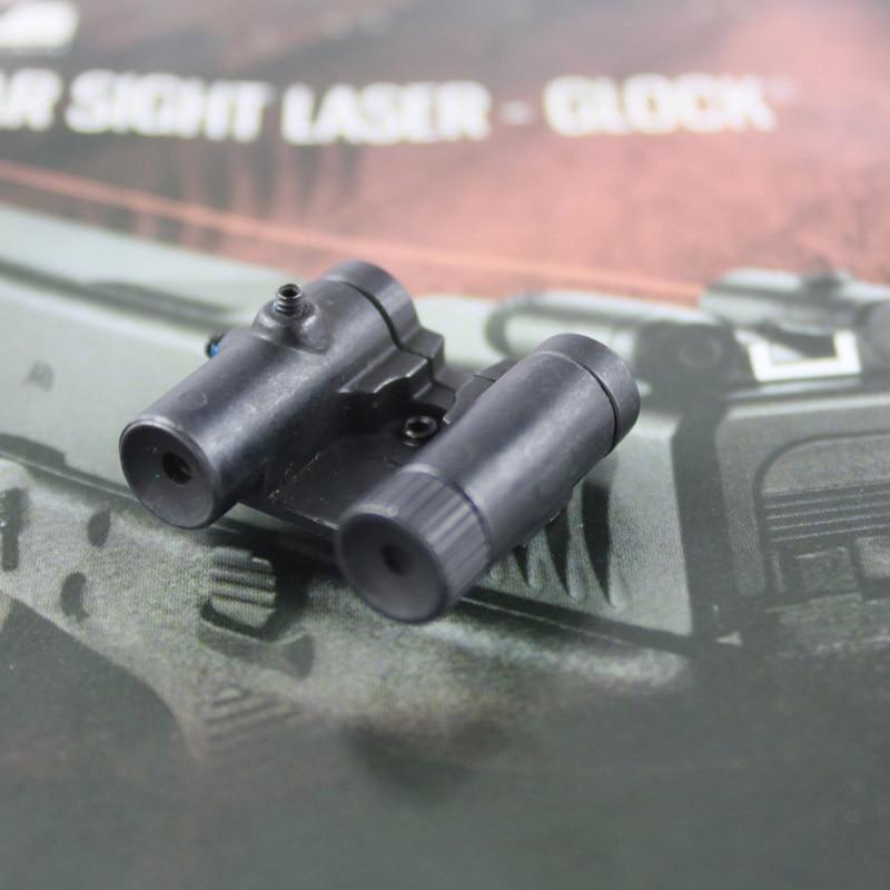 visao traseira de aco tatico laser red dot laser vista para todos os pistola glock serie