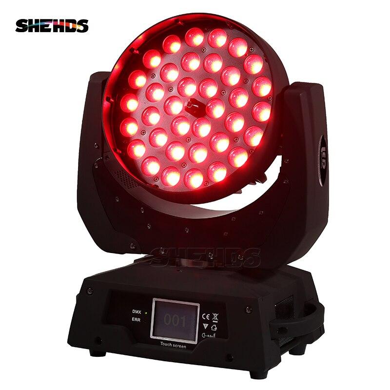 2 шт./лот светодио дный зум мыть 36x18 Вт RGBWA + УФ Цвет DMX Сенсорный экран светодио дный перемещение головы мыть хорошо для DJ Disco вечерние и клубов