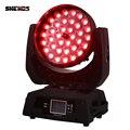 2 шт./лот LED Zoom Wash 36x18 Вт RGBWA + УФ-цвет DMX сценический сенсорный светодиодный Светодиодный движущаяся голова мыть свет хорошо для DJ Дискотека ве...