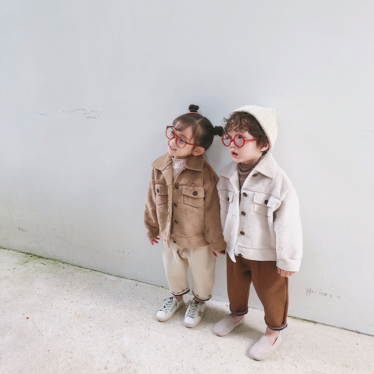 Children Clothing 2018 Winter New Boys and Girls Faux Fur Coat Kids Warm Jackets Toddler Outwear Fashion Turn-down Collar Coats цены