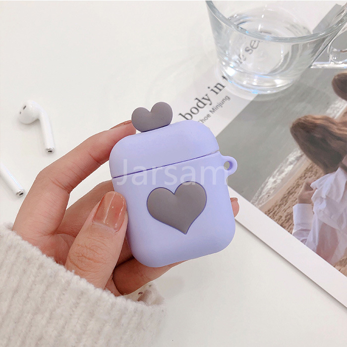 Cute Cartoon Love Wireless Earphone Case For Apple AirPods 2 Silicone Charging Headphones Case for Airpods Protective Cover in Earphone Accessories from Consumer Electronics