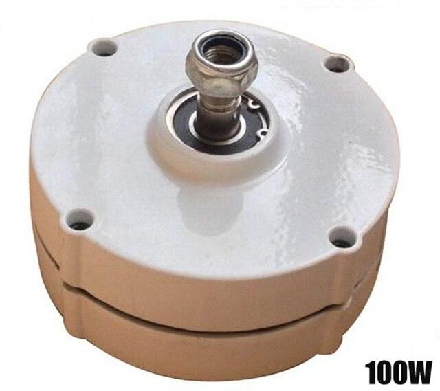Alternateur à aimant PERMANENT de générateur d'éolienne de régime bas de 100 W ou 200 W AC12V/24 V directement en vente