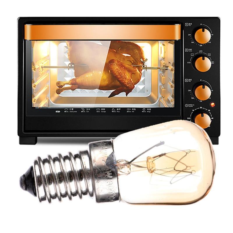 LAIDEYI High Temperature 15W 25W 300 Degree E14 Oven Toaster Steam Light Bulb Cooker Hold Lamp 110-240V LED Bulb Oven Light Bulb