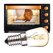 A alta temperatura 15w 25w de laideyi 300 graus e14 forno torradeira vapor lâmpada de espera 110-240v do fogão do bulbo conduziu a lâmpada do forno do bulbo