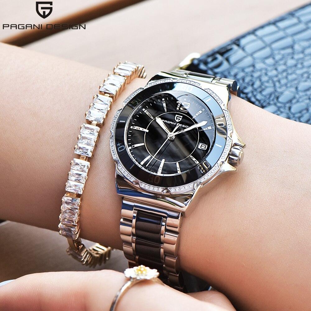 PAGANI DESIGN 2018 New Brand Ceramic Women Watch Waterproof stainless steel Quartz Watch Luxury Lady Watches