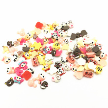 100Pcs Mixed Tiny Cameo Cabochon Decoration Bear Animal Cake Resin Flat Back Fashion Jewelry DIY Findings 6-10mm