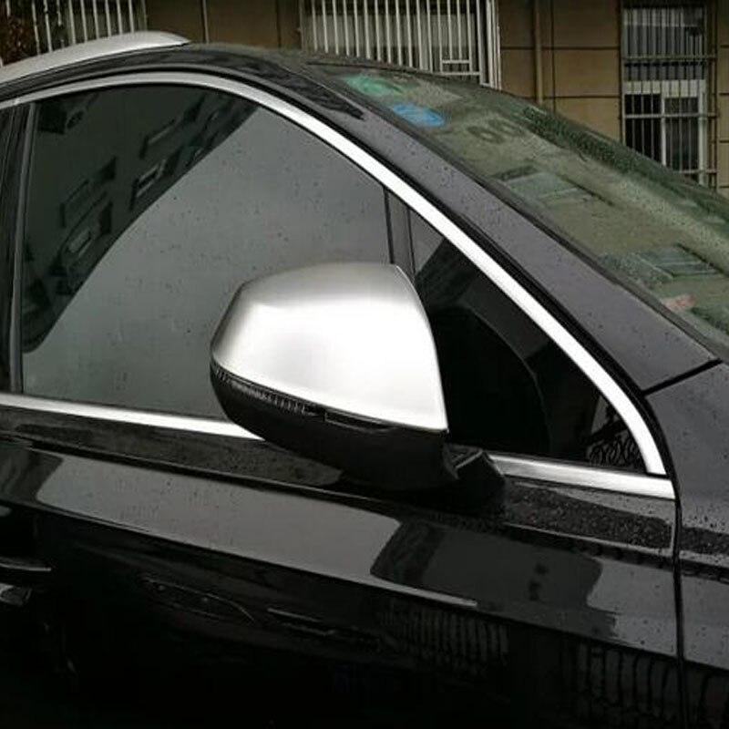 Luhuezu АБС Сторона зеркало Крышка двери крышки зеркала для Ауди Q7 2016 2017 аксессуаров