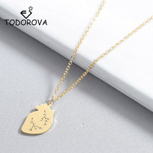 Todorova Anatomical Heart Pendant Necklace Women Human Medical Cardiology Jewelry Science Biology Necklace for Doctor Nurse Gift