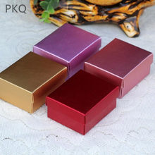 20pcs Rose Gold Aluminum Foil Paper Box Packaging Gold Metallic Gift Boxes With Lids Cardboard Jewelry Box Wedding Favor Boxes(China)