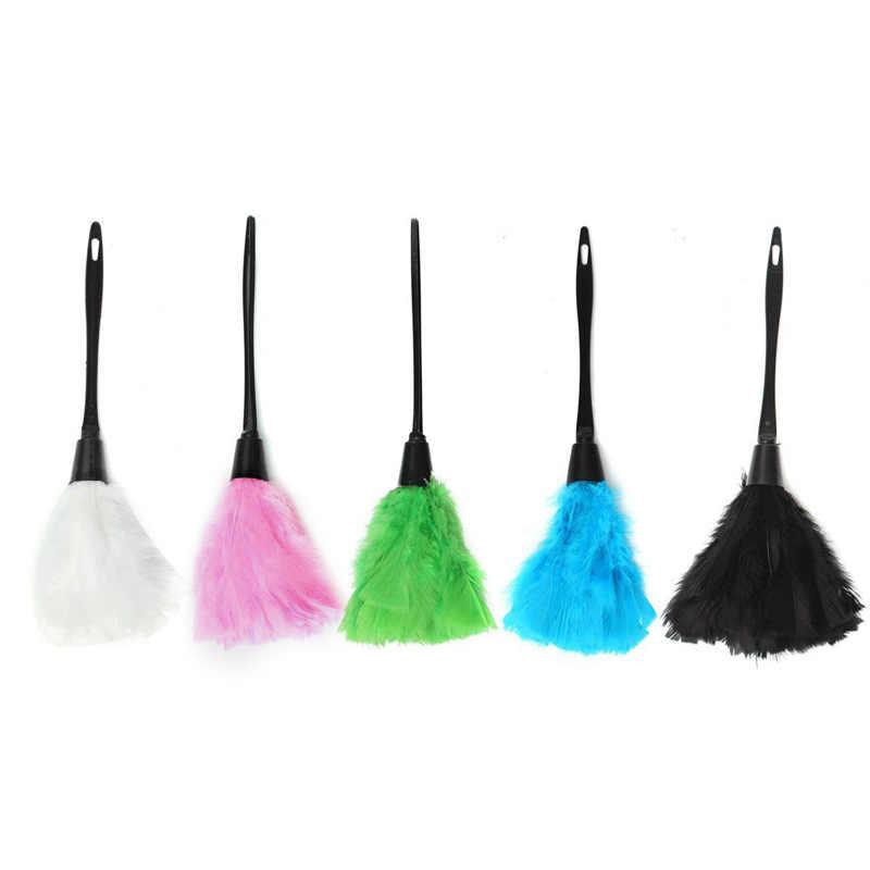 Doux dinde plumeau doux outils de nettoyage plumeau brosse poignée pour le nettoyage de voiture ventilateur meubles nettoyant dinde plumeau