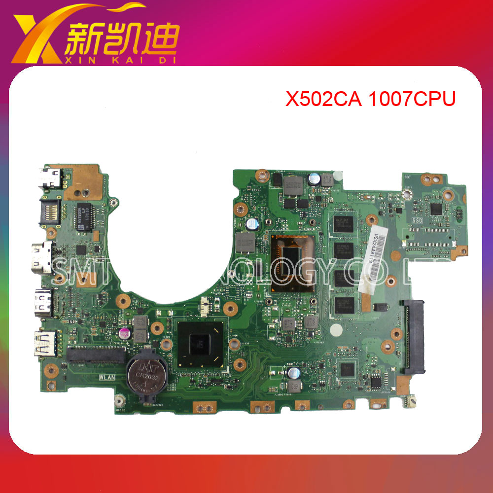 For Asus X502CA laptop X402CA REV2.1 Motherboard 1007cpu Mainboard Fully Tested for asus ux31a ux31a3 laptop motherboard with i5 3517u cpu fully tested rev 4 1 top mainboard