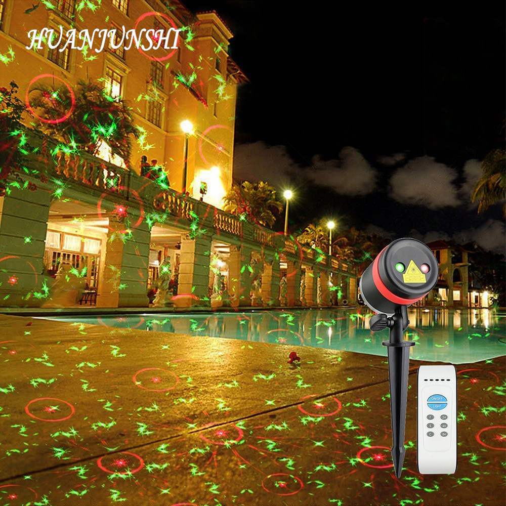 Christmas Laser Projector Light RF Remote Control 16 Pattern Films ...