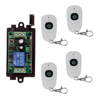 DC 9V 12V 24V 1 CH 1CH RF Wireless Remote Control Switch System Transmitter Receiver With