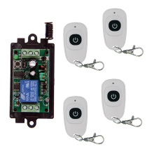 цены DC 9V 12V 24V 1 CH 1CH RF Wireless Remote Control Switch System,Transmitter + Receiver With One Button,315 433.92