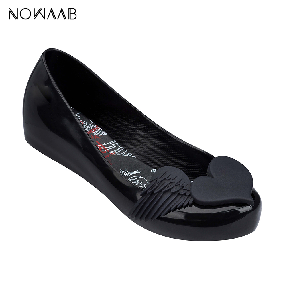 Melissa Wing 2019 New Women Flat Sandals Brand Jelly Melissa Shoes For Women Solid Sandals Female Jelly Shoes MulherMelissa Wing 2019 New Women Flat Sandals Brand Jelly Melissa Shoes For Women Solid Sandals Female Jelly Shoes Mulher