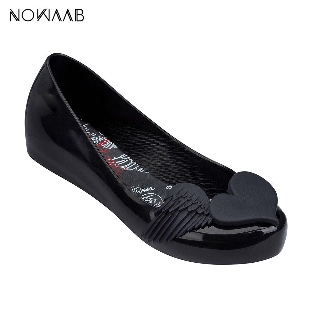 Melissa asa 2019 nova mulher sandálias planas marca jelly melissa sapatos para as mulheres sandálias sólidas sapatos femininos geléia mulher
