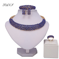 Wholesale Luxury Bridal Gold Color Jewelry Sets For Women Fashion Unique Nigerian Wedding African Beads Chokers