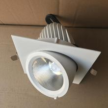 LED trunk light COB Square Ceiling 30W/2*30W Warm Cold White  Grille lamp rotatable led downlight Adjustable