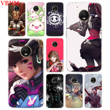 Overwatchs OW D.VA Accessories Phone Case For Motorola Moto G7 G6 G5S G5 E4 Plus G4 E5 Play X4 Pattern Customized Coque Cover