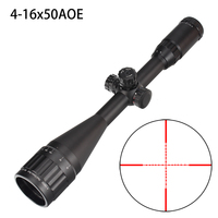Hunting 4 16X50 AO Riflescope Tactical Optical Sight Full Size Mil Dot Red Green Blue llluminate Reticle Turrets Lock Scope