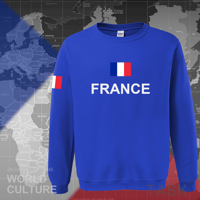 France hoodies men sweatshirt sweat new hip hop streetwear clothing jerseys FRA loose tracksuit nation French flag fleece FR
