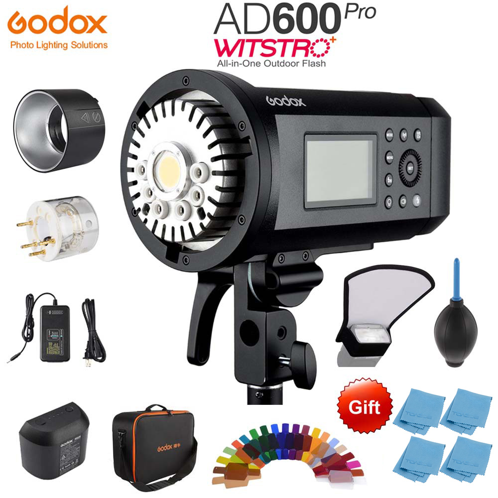 <font><b>Godox</b></font> <font><b>AD600</b></font> <font><b>Pro</b></font> WITSTRO All-in-One Outdoor Flash AD600Pro Li-on Battery TTL HSS with Built-in 2.4G Wireless X System image