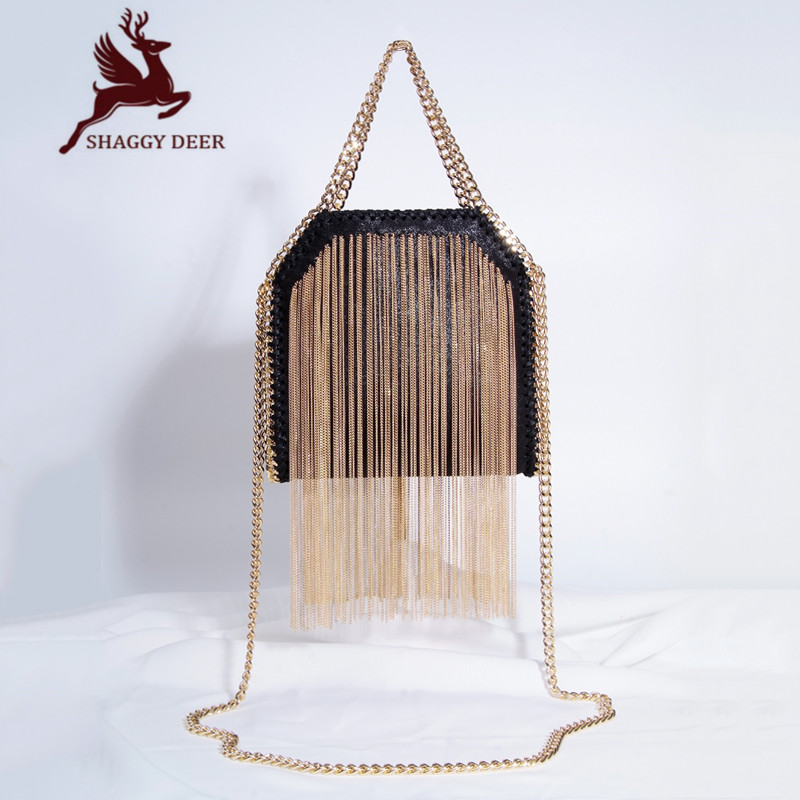 Exclusive Top Quality Luxury Mini Tassel Stella Crossbody Chain Bag Shaggy Deer PVC Lady Catwalk Fashion Bag mini gray shaggy deer pvc quilted chain bag with cover real picture