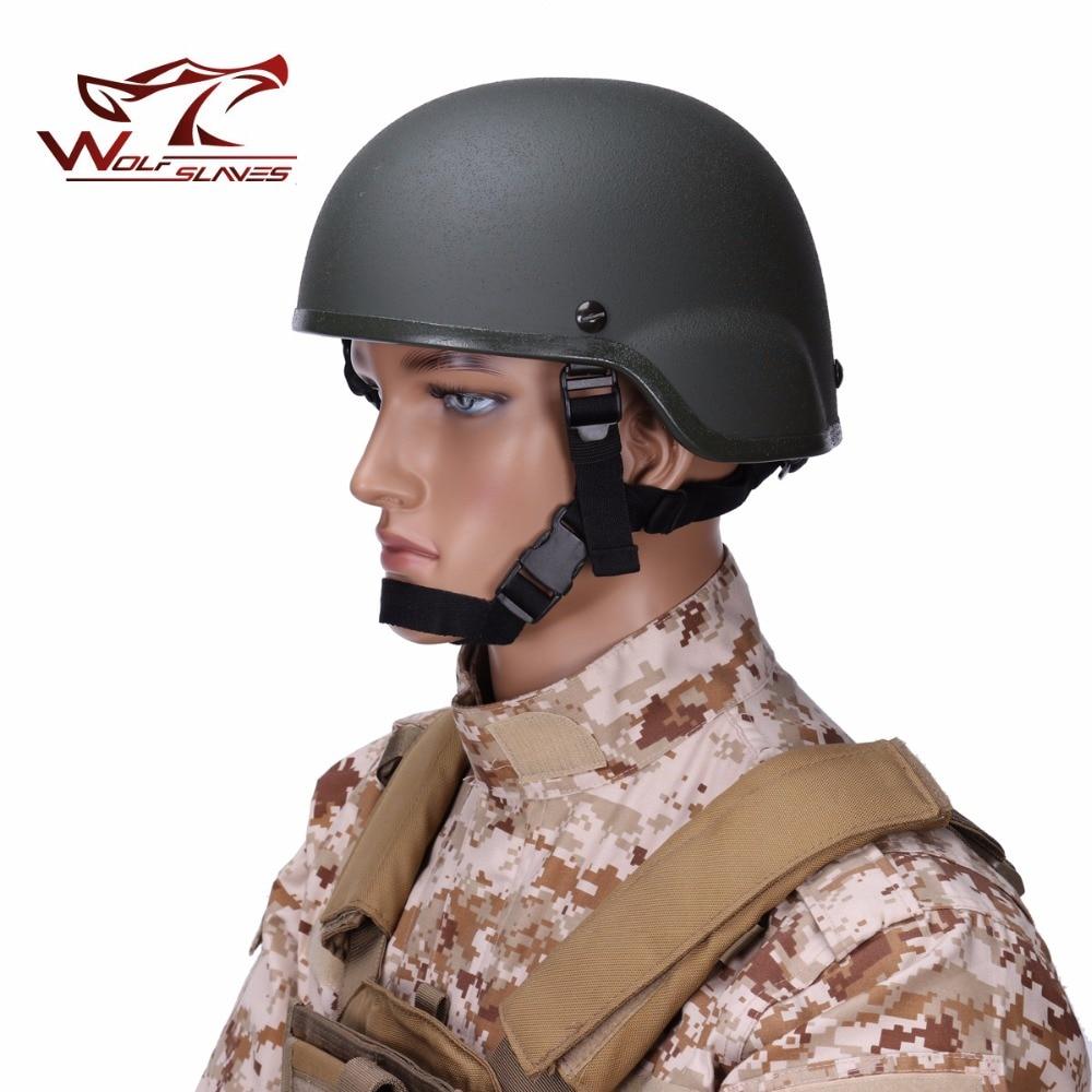 Mich 2000 armée CS renforcé de fibres plastiques tête casque de protection de haute qualité tactique Combat extérieur casque de chasse