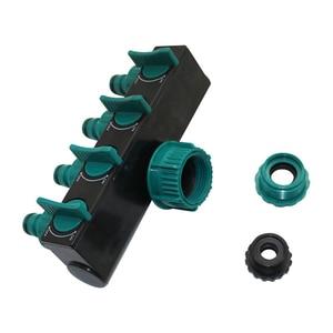 "Image 4 - 1/2"" 3/4"" 1"" Hose Splitters Irrigation Adapter 4 way Water Hose Connectors European standard Female Thread Tap Connectors 1 Pc"