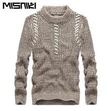 Misniki 2017 neu eingetroffen fashion herbst männer pullover runde kragen fitness strickpullover 5 farben S-XXL XP10
