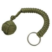Self Defense Keychain Chain Keyring 550 Steel Ball Survival