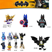 LEGOing Robin X-Men Dc Super Heroes Batman Joker Harley Quinn Veneno Building Blocks Brinquedos Deadpool Legoinglys(China)