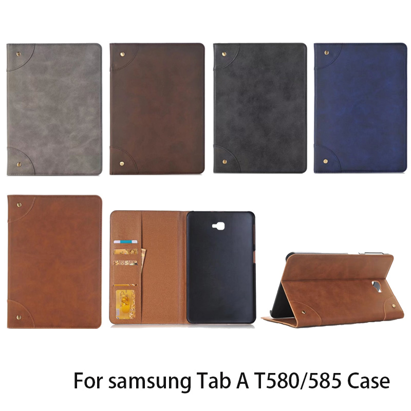 Tab A A6 10.1 SM T580 T585 T587 Luxury Pattern Leather Case Cover - For Samsung Galaxy Tab A 10.1 Tablet multi stand case tab a a6 10 1 sm t580 t585 t587 360 rotating case cover forsamsung galaxy tab a 10 1 2016 tablet multi angel stand cover case