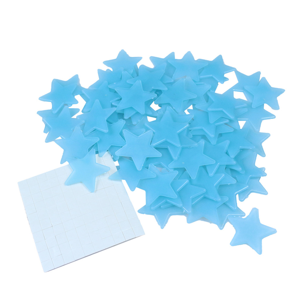 popular glowing decals buy cheap glowing decals lots from china 100pcs wall stickers decal glow in the dark stars baby kids bedroom home decor color luminous