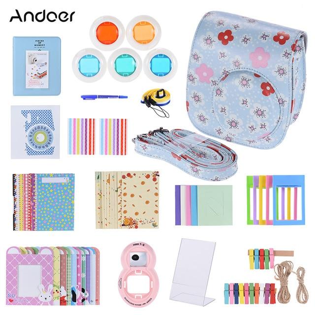 Andoer PU Protective Camera Case Bag Pouch Protector for Fujifilm Instax Mini 8 8+ 8s 9 Mini 9 Instax Camera Bag 2018 New